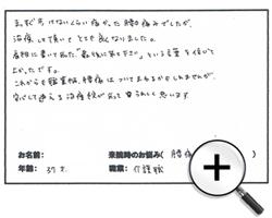 京都市 右京区西院 37歳 男性 腰痛が改善!
