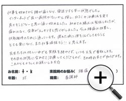 京都市 中京区 20代 看護師 全身がスッキリ!